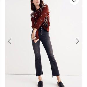 Madewell Cali Demi Boot Jeans NWOT